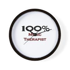 100 Percent Music Therapist Wall Clock