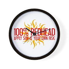 100% Redhead - Apply Sun Risk Wall Clock
