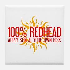 100% Redhead - Apply Sun Risk Tile Coaster