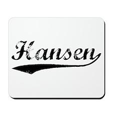 Vintage Hansen (Black) Mousepad