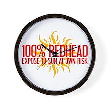 100% Redhead - Expose to Sun Wall Clock