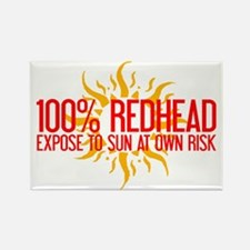 100% Redhead - Expose to Sun Rectangle Magnet