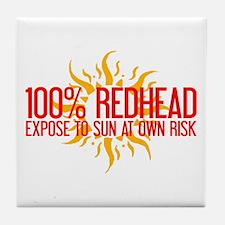 100% Redhead - Expose to Sun Tile Coaster