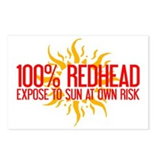 100% Redhead - Expose to Sun Postcards (Package of