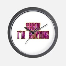 shhh i'm hunting t-shirts gifts Wall Clock