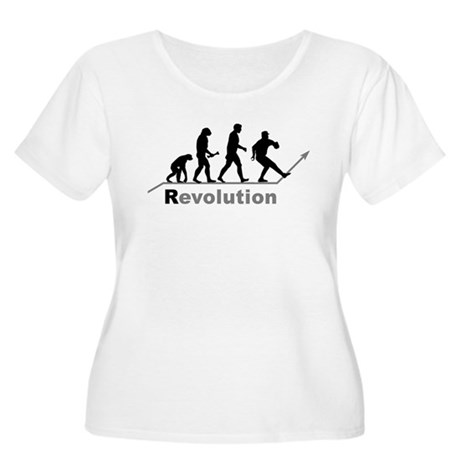 Baseball Pitcher Revolution Women's Plus Size Scoo