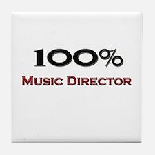 100 Percent Music Director Tile Coaster