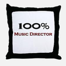 100 Percent Music Director Throw Pillow