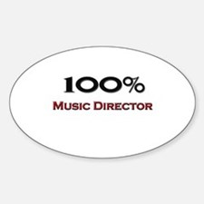100 Percent Music Director Oval Decal
