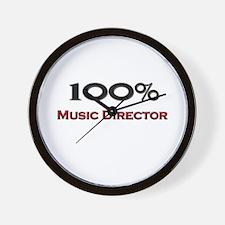 100 Percent Music Director Wall Clock