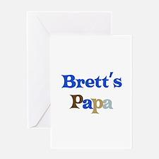 Brett's Papa Greeting Card