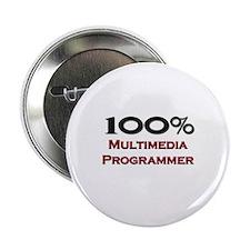 "100 Percent Multimedia Programmer 2.25"" Button"