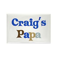 Craig's Papa Rectangle Magnet
