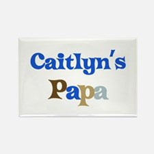 Caitlyn's Papa Rectangle Magnet