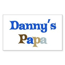 Danny's Papa Rectangle Decal