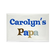 Carolyn's Papa Rectangle Magnet