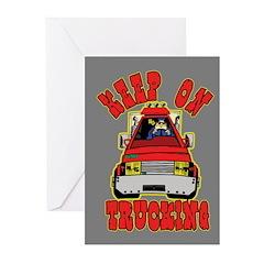 Keep Trucking Greeting Cards (Pk of 20)