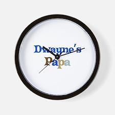 Dwayne's Papa Wall Clock