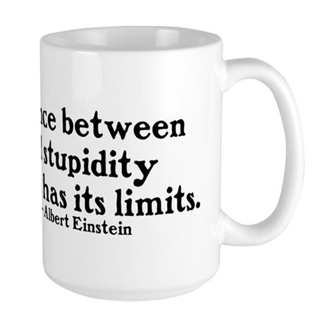 Genius vs. Stupidity Large Mug