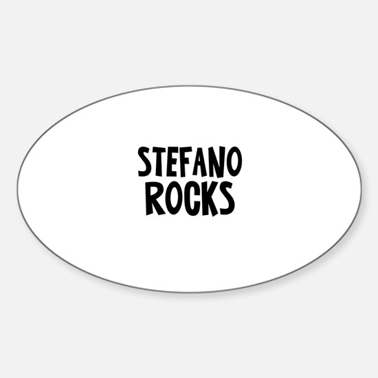 Stefano Rocks Oval Decal