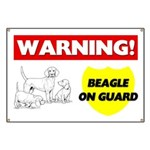 Warning Beagle On Guard Banner