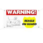 Warning Beagle On Guard Banner