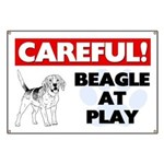 Careful Beagle At Play Banner