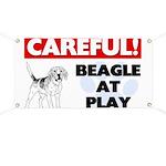 Careful Beagle At Play Banner