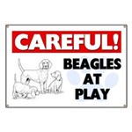 Careful Beagles At Play Banner
