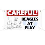Careful Beagles At Play Banner