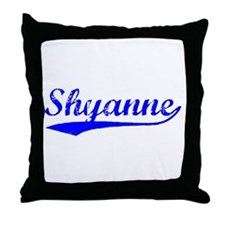 Vintage Shyanne (Blue) Throw Pillow