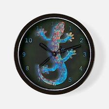 """""""Blue Salamander"""" Wall Clock"""
