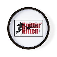 Knittin Kitten - Sexy Knitting Retro Wall Clock