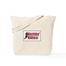 Knittin Kitten - Sexy Knitting Retro Tote Bag