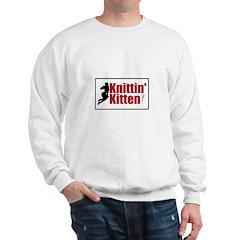 Knittin Kitten - Sexy Knitting Retro Sweatshirt