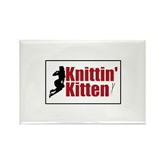 Knittin Kitten - Sexy Knitting Retro Rectangle Mag
