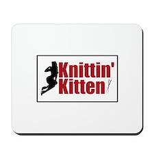 Knittin Kitten - Sexy Knitting Retro Mousepad