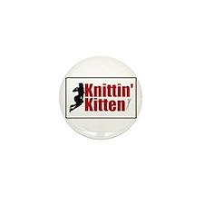 Knittin Kitten - Sexy Knitting Retro Mini Button (