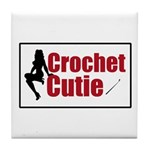 Crochet Cutie - Sexy Retro Cr Tile Coaster