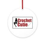 Crochet Cutie - Sexy Retro Cr Ornament (Round)
