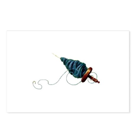 Spinning - Wool Yarn Spindle Postcards (Package of