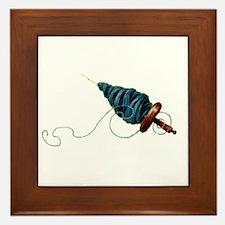 Spinning - Wool Yarn Spindle Framed Tile