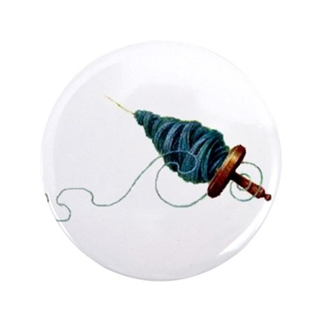 """Spinning - Wool Yarn Spindle 3.5"""" Button (100 pack"""