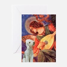 Mandolin/Bedlington Ter Greeting Cards(Pk of 20)