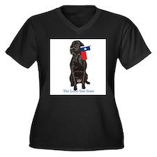 texas Women's Plus Size V-Neck Dark T-Shirt