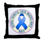 Colorectal Cancer Month Throw Pillow