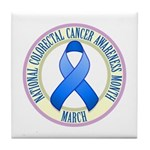 Colorectal Cancer Month Tile Coaster