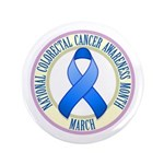 "Colorectal Cancer Month 3.5"" Button (100 pack)"