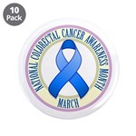 "Colorectal Cancer Month 3.5"" Button (10 pack)"