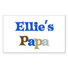 Ellie's Papa Rectangle Decal